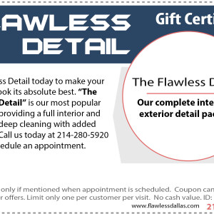 flawless detail gift certificate