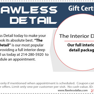 interior detail gift certificate