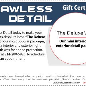 deluxe wax gift certificate
